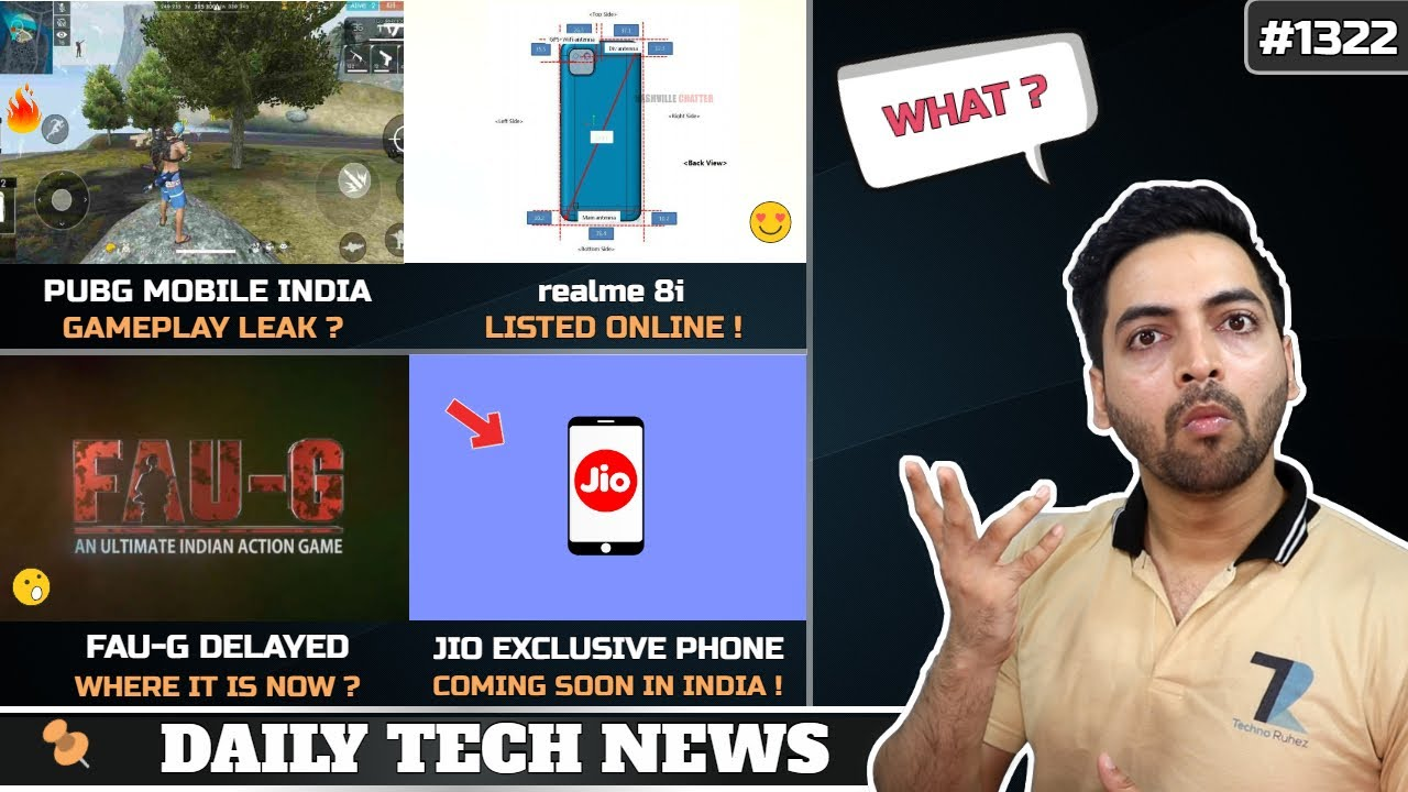 PUBG Mobile India Gameplay,Jio Exclusive Smartphones,FAU G Delay,realme 8i Specs,PS5 No Warranty