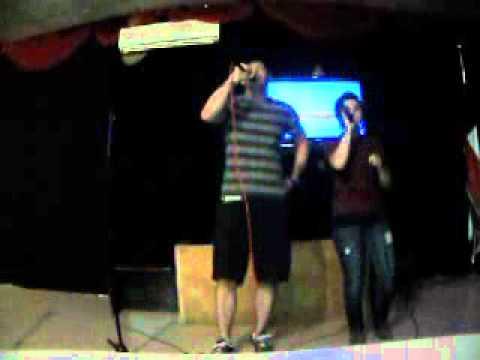 "Tony Williams and Ashley Adams singing "" Remeind Me"" at Karaoke"