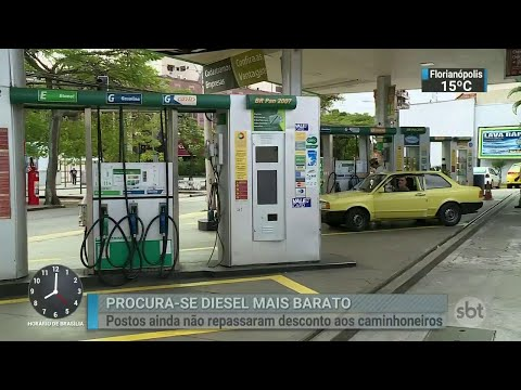 Eliseu Padilha admite que desconto do diesel nas bombas é de R$ 0,41   SBT Brasil (06/06/18)