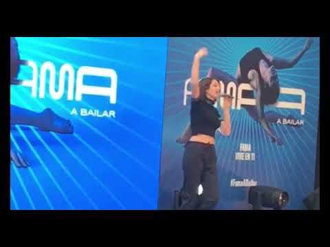 Delaporte interpreta † Un Jardín † durante la presentación de † FAMA a bailar †