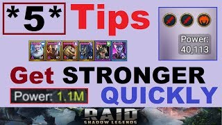 *5* Tips to get ~STRONGER QUICKLY~ in Raid Shadow Legends