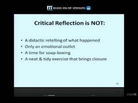 Deepen Learning through Critical Reflection - YouTube