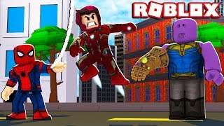 Roblox - ENCONTRAMOS O THANOS (Marvel & Dc: Dawn Of Heroes)