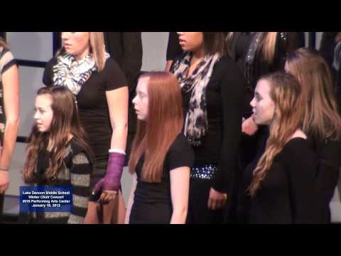 2012 Lake Denoon Middle School Winter Concert - Siyahamba