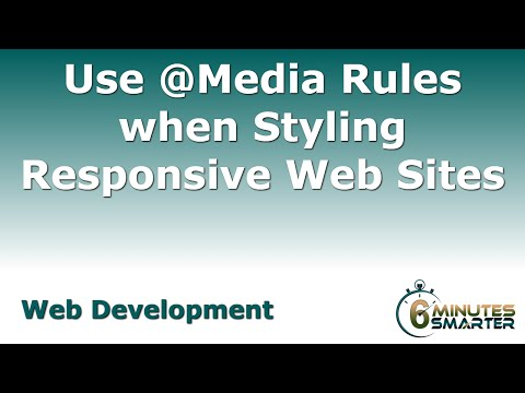 Use @Media Rules When Styling Responsive Web Sites