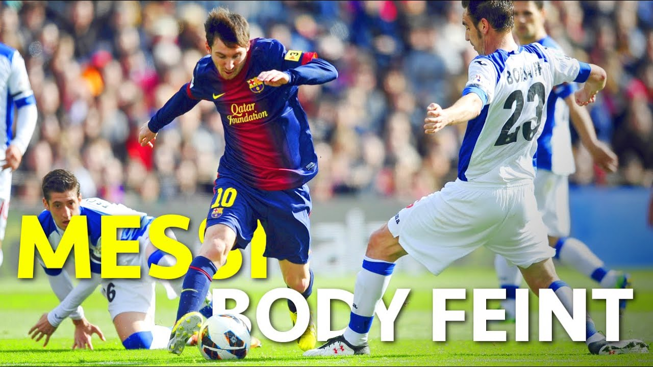 The Body Feint U2022 Dribble Like Messi U2022 Effective Football Skill Tutorial  (Körpertäuschung)