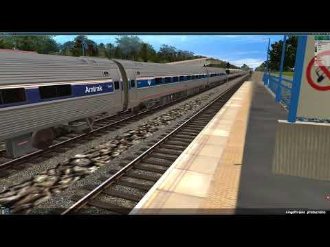 Trainz 12: Amtrak P42DC + Amfleet Set via Northeast Corridor