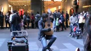 A Talented Guitarist Tom Ward playing music in Pitt Street Mall Sydney (Part 2)