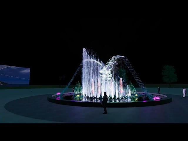 Thiết kế mô hình nhạc nước Quảng trường Happy Home - Cà Mau