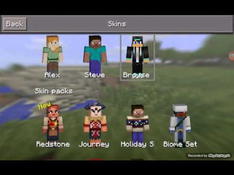 How To Get A Skin On Minecraft Pocket Edition - Skins para minecraft pe skindex