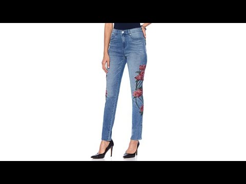 DG2 by Diane Gilman Virtual Stretch Floral Stitched Jean