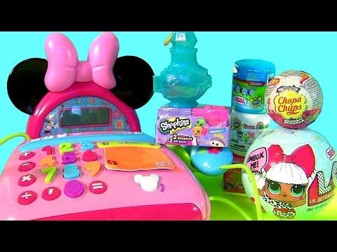 Disney Princess Merida Minnie's Cash Register Toy Egg Surprises Mashems Fashems Stackems Funtoys