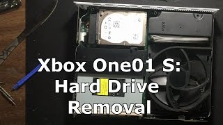 Xbox One 01 S: Opening and Hard Drive Removal