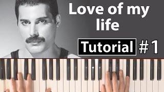 """Como tocar """"Love of my life""""(Queen) - Parte 1/3 - Piano tutorial y partitura Video"""