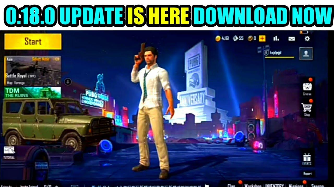 Download Link 0.18.0 BETA UPDATE   PUBG LITE 1st ANNIVERSARY UPDATE