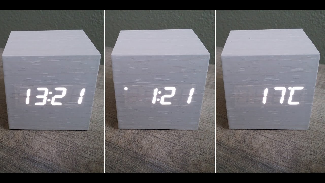 My cool led alarm clock thermometer youtube