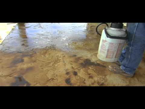 How To Apply Acid Stain And Concrete Overlay Part Two