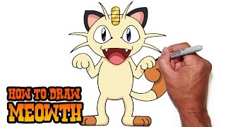 How to Draw Meowth- Pokemon- Video Lesson