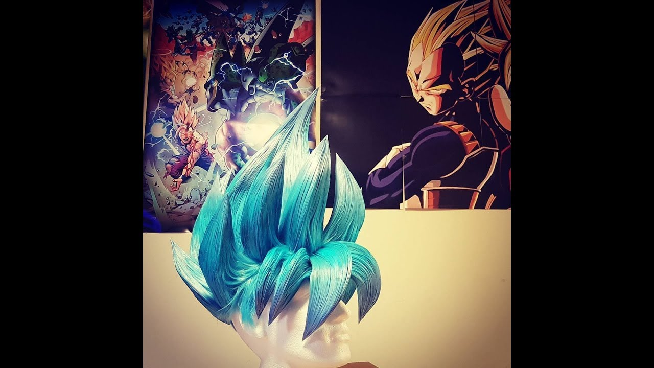 Super Saiyan BLUE wig UNBOXING - best GOKU Cosplay wig to date - YouTube f4e8bce956a4