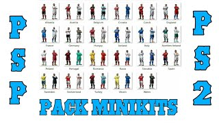 Pack minikits Pes PSP PS2