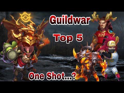 Guildwar   Mino Bomb   One Shot....???   Top-5   12900 Score   Castle Clash