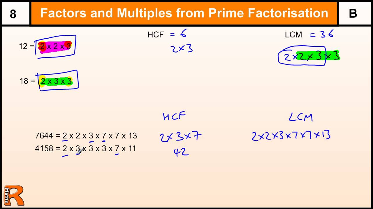 HCF and LCM: GCSE Questions (solutions, examples, videos ...