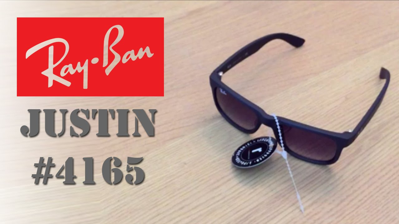 1f9affeac2 Ray Ban Justin - RB 4165 Black - YouTube