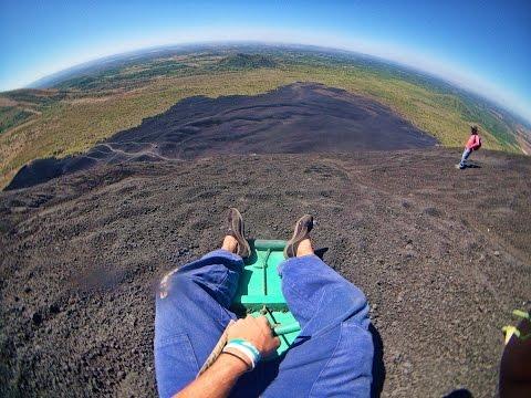 Volcano Boarding in Nicaragua