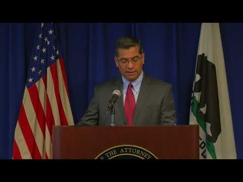 Attorney General Becerra Holds Press Conference about Cyber Exploitation Case