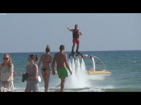 Water Jetpack . Flyboard . Extreme water attractions . Turkey 2015