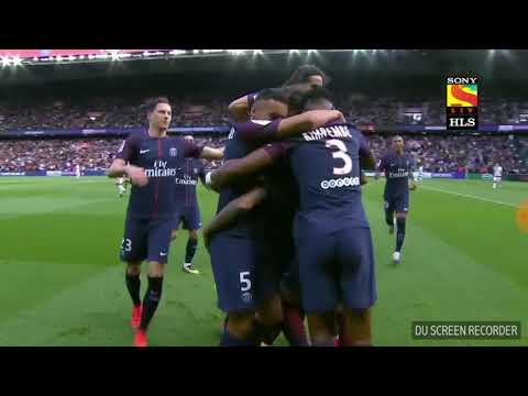 PSG vs Bordeaux- Neymar Brilliant Free-kick! Don't miss! (30 th September, 2017)