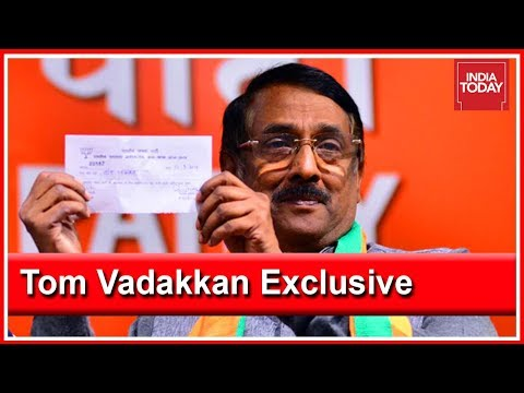 Tom Vadakkan On Why He Joined BJP | First On India Today With Rahul Kanwal