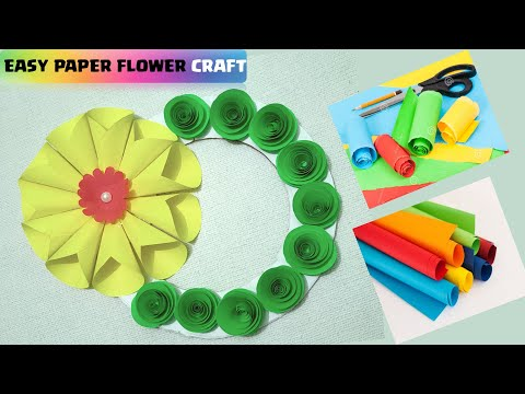 diy-origami-paper-flower-art---wall-hanging-craft-ideas-for-diwali