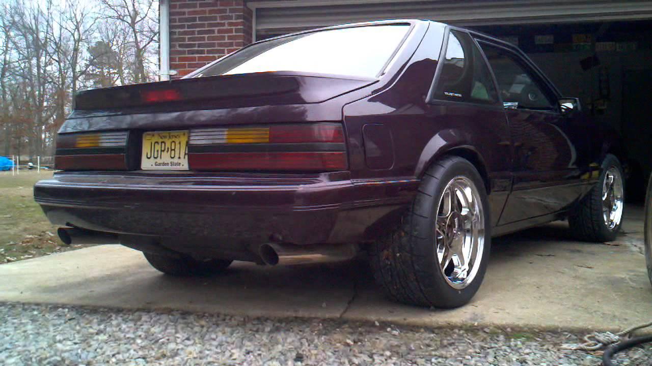 Free Flow Exhaust >> My 1986 Mustang Trick Flow Cam Mac Exhaust Idling - YouTube