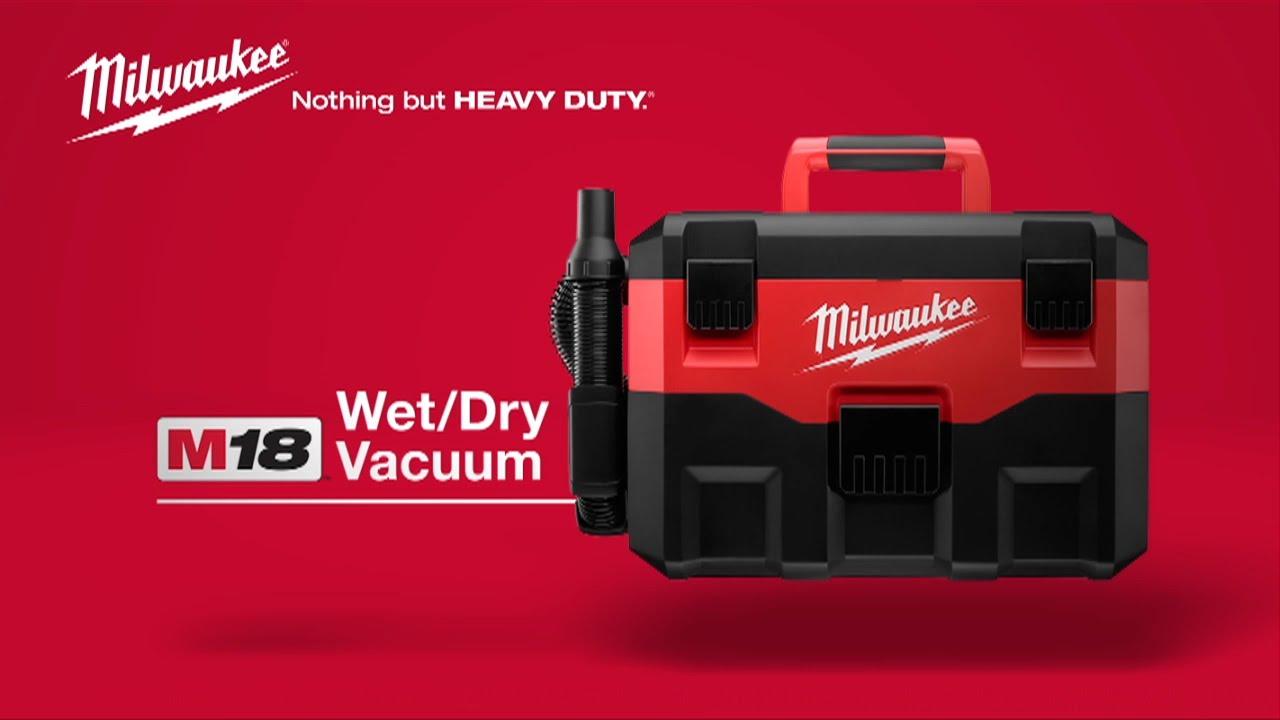 Milwaukee 174 M18 Wet Dry Vacuum 0880 20 Youtube