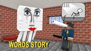 Monster School: WORDS STORY CHALLENGE - Minecraft Animation
