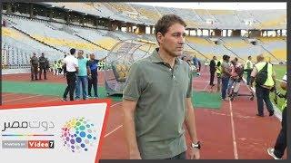 حديث جانبي بين حسام حسن وفايلر قبل مباراة الأهلي وسموحة