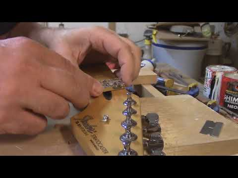 how to install a floyd rose locking nut on fender neck
