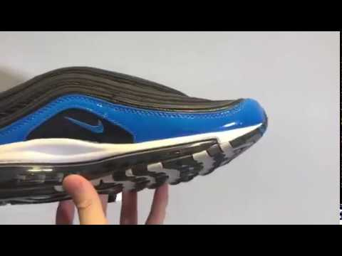 e85d4eab21 Nike Air Max 97 Blue Nebula Black Blue Nebula Wolf Grey White - YouTube