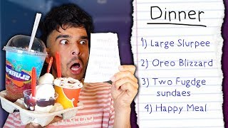 I Swapped Diets With a STRANGER For 24 HOURS (IMPOSSIBLE FOOD CHALLENGE)