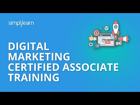 Digital Marketing Certified Associate Training - DMCA Simplilearn - 동영상