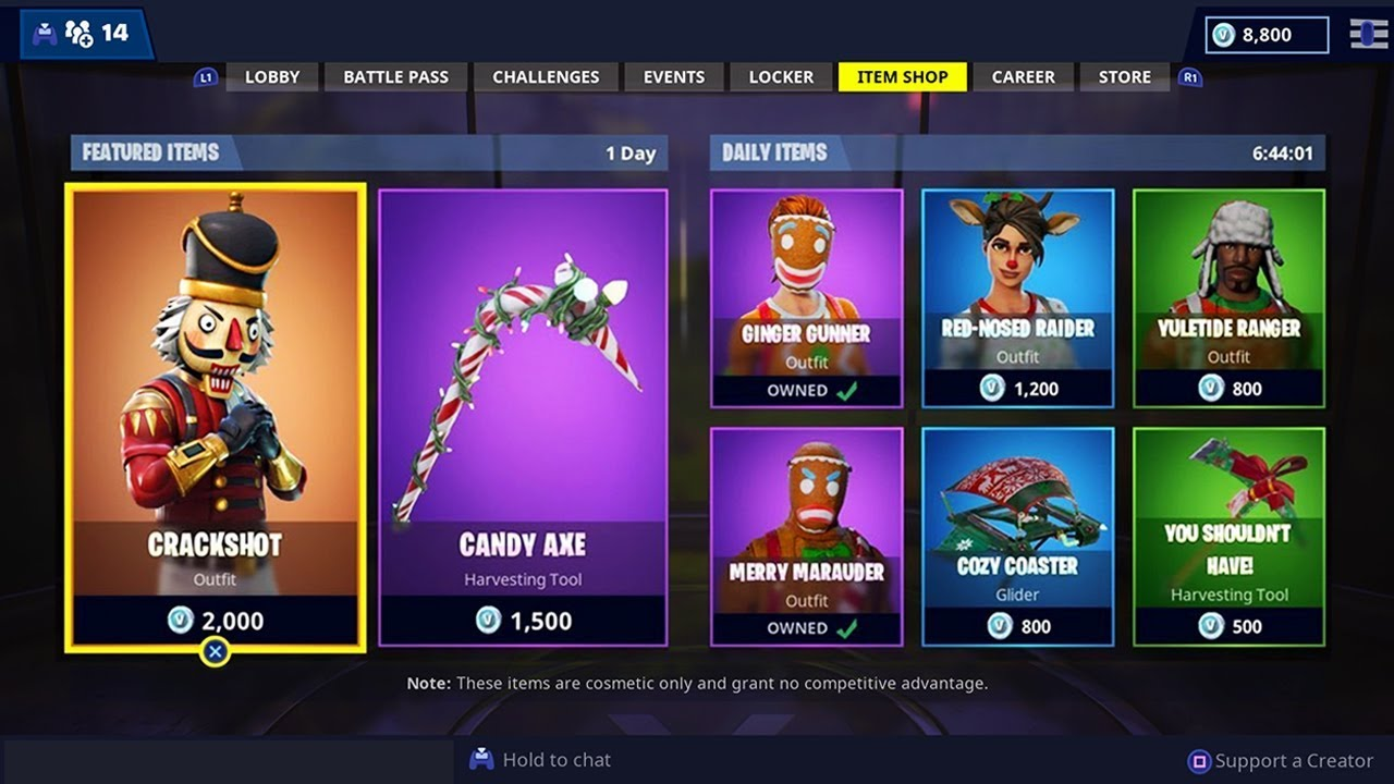 Fortnite Christmas Skins Coming Back In 2018 Youtube