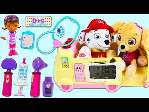 PAW PATROL Marshall Visits Doc McStuffins Toy Hospital!