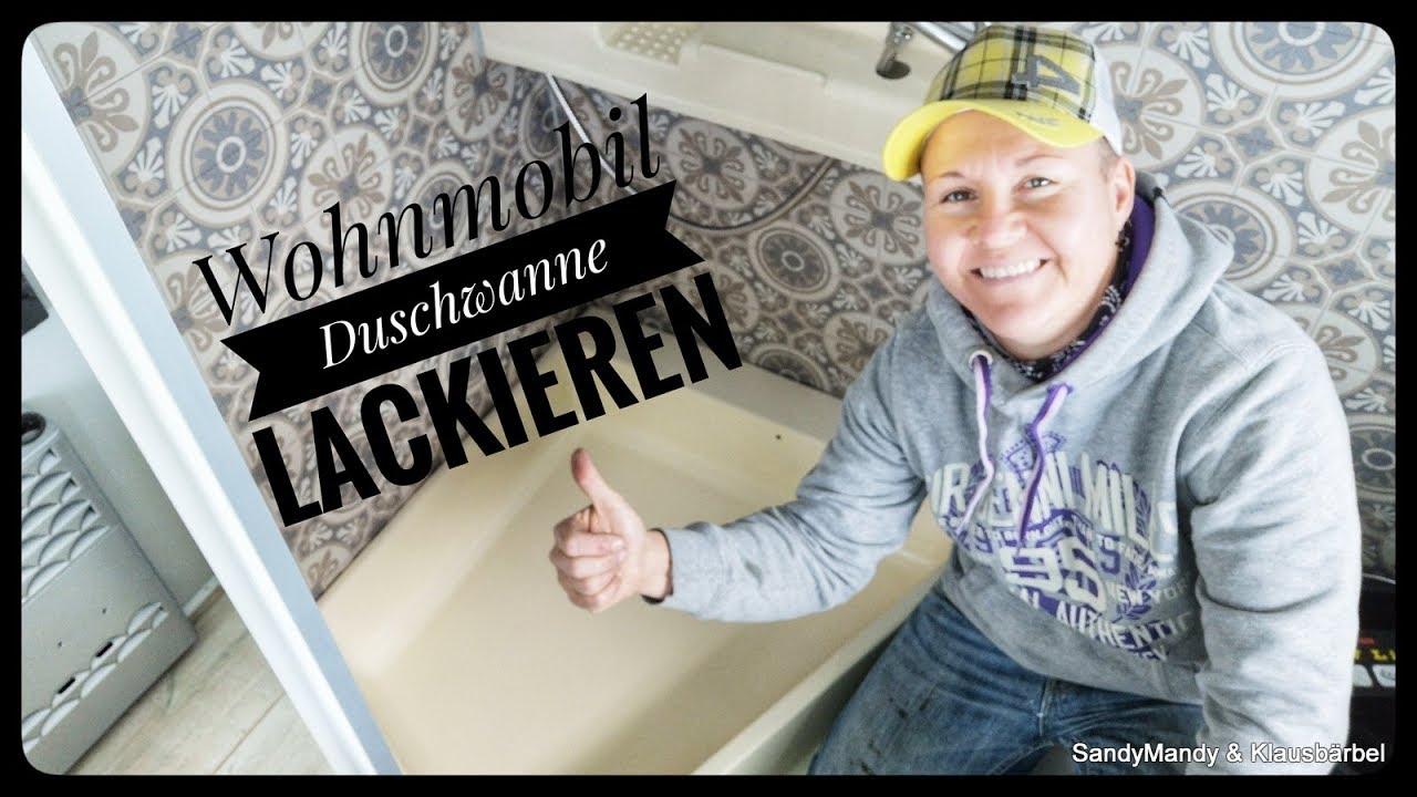Wohnmobil Duschwanne selber lackieren