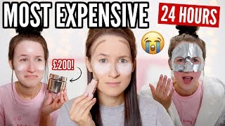 I Only Used The Most EXPENSIVE Beauty Products For 24 HOURS... *I SPENT OVER £600*