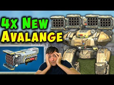 4x NEW Heavy AVALANCHE BEHEMOTH - War Robots Test Server Gameplay WR