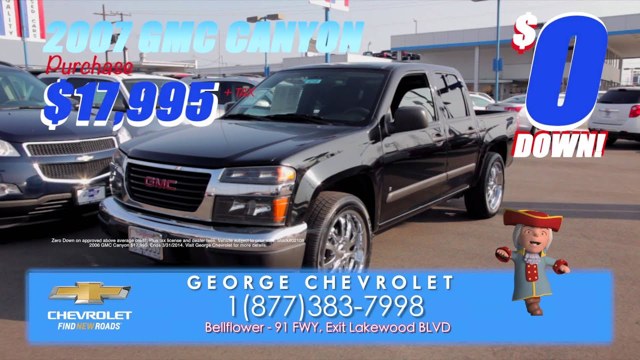 George Chevrolet March Used Car 0 Down Specials