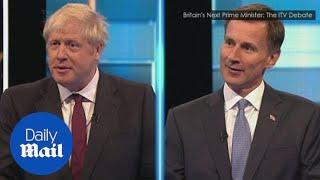 Boris Johnson and Jeremy Hunt clash in ITV leadership debate