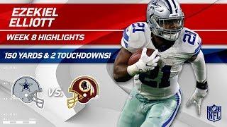 Ezekiel Elliott's 33 Carries, 150 Yards & 2 TDs! | Cowboys vs. Redskins | Wk 8 Player Highlights