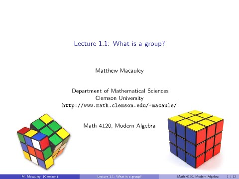 Visual Group Theory, Lecture 1.1: What is a group?